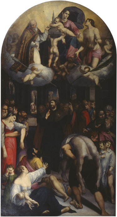 Saint Roch Interceding with the Madonna for the Plague-Stricken