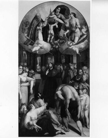 San Rocco intercede presso la Madonna contro la peste