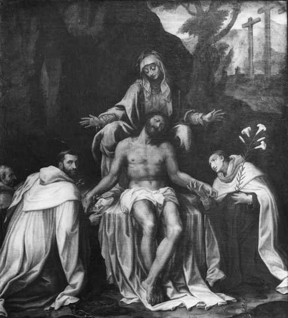 Lamentation over Dead Christ with Saints